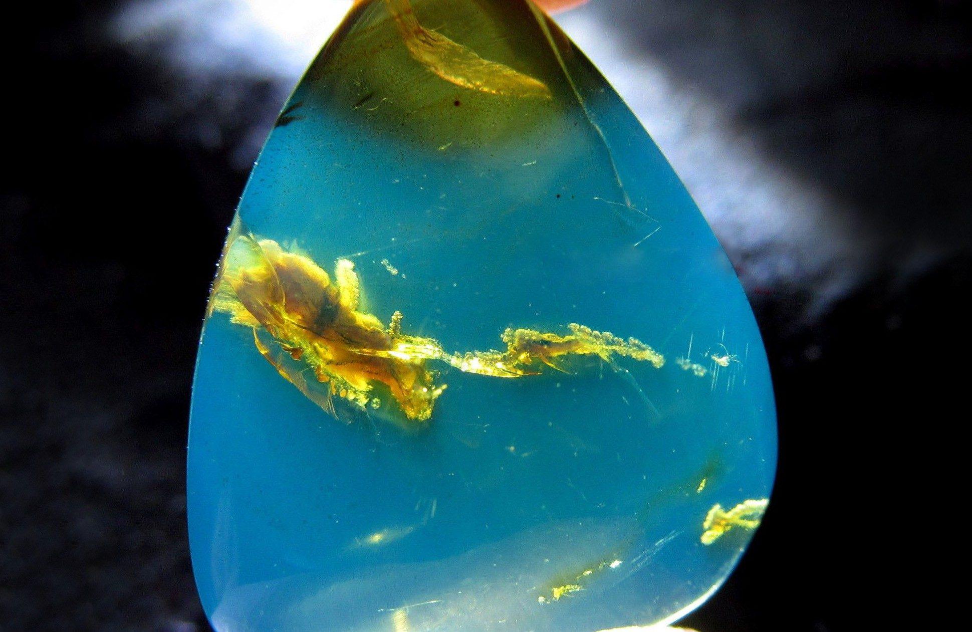Структура доминиканского голубого янтаря