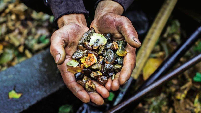 Добыча голубого янтаря в Доминикане