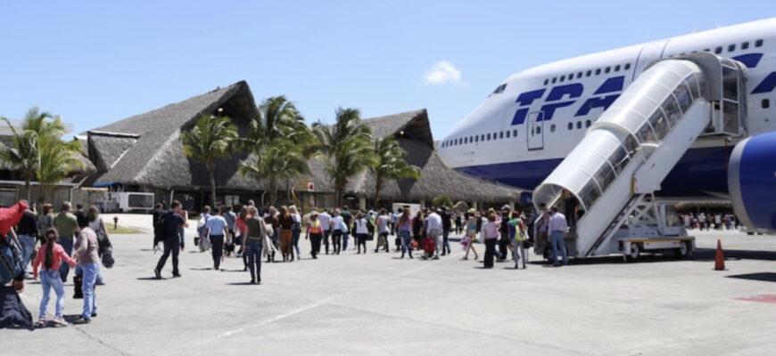 Фото самолета в Доминикану