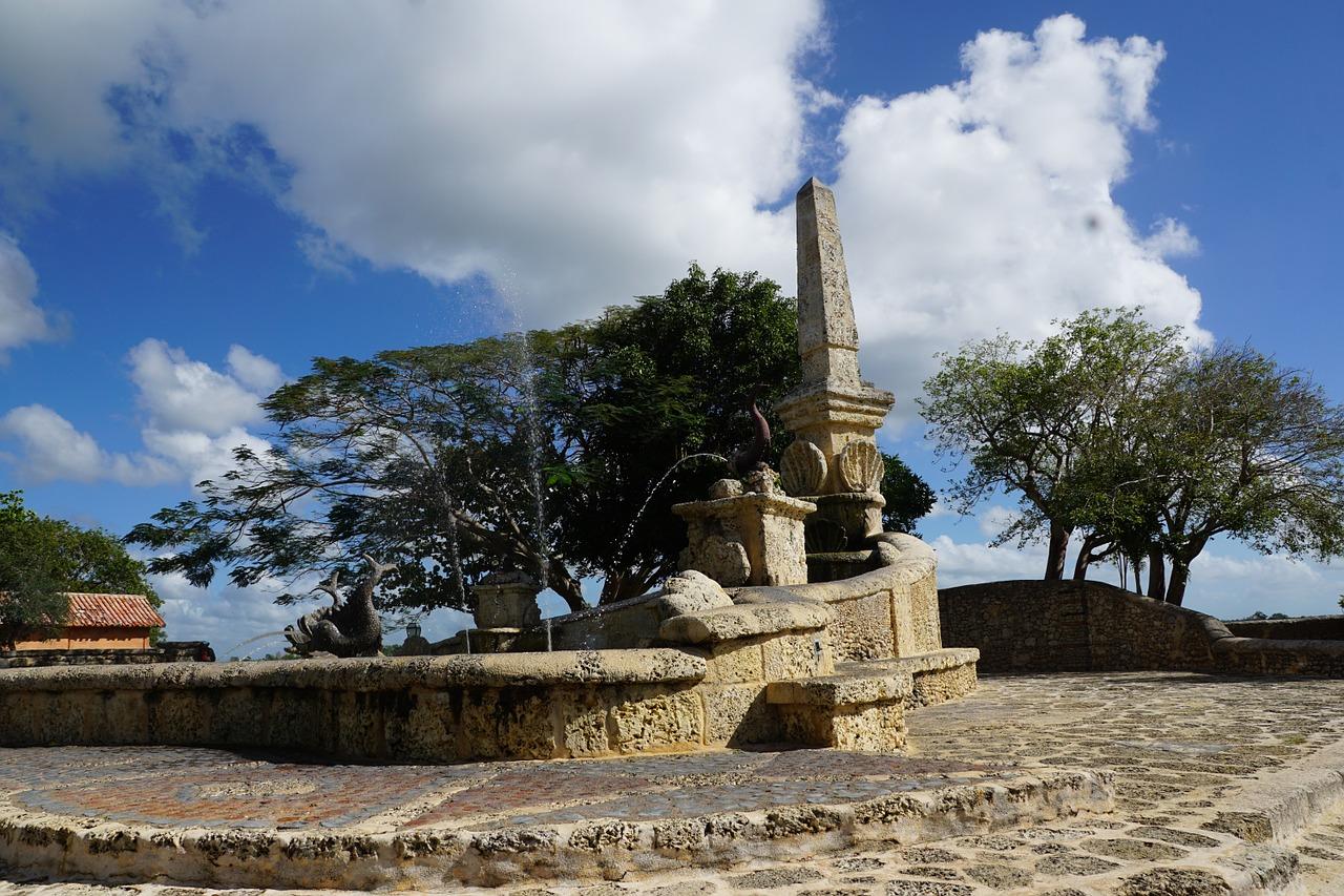 Фото фонтана в городе